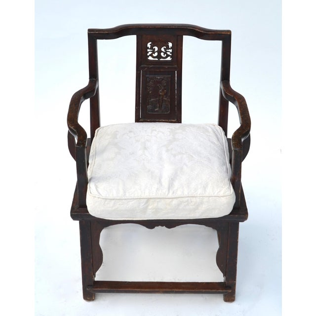 Antique Chinese Wood Carved Chair - Image 7 of 8