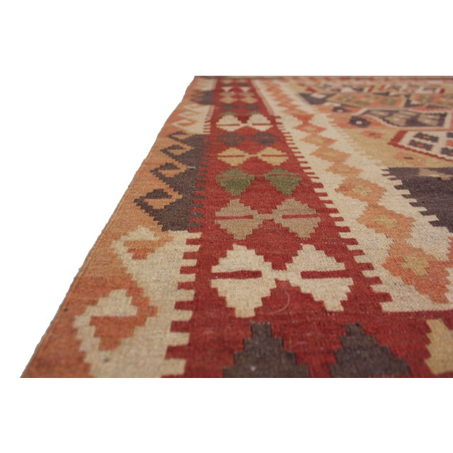 """Traditional Hand Knotted Maimana Kilim by Aara Rugs - 6'5"""" x 4'11"""" For Sale - Image 3 of 6"""
