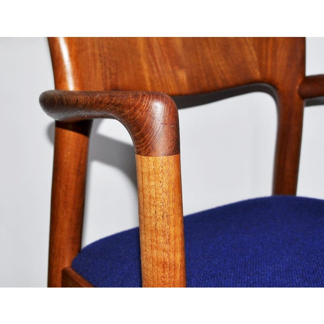 1960s One 1960s Mid-Century Modern Koefoeds Hornslet Teak Arm Chair For Sale - Image 5 of 10