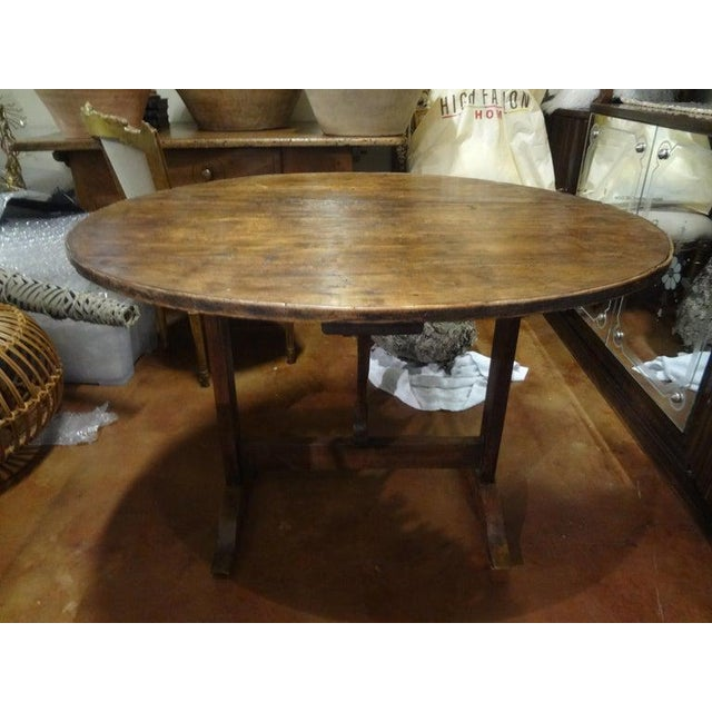 French Provincial 19th Century French Walnut Wine Tasting Table From Burgundy For Sale - Image 3 of 13
