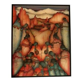 Amado Pena Southwestern Design Los Quince Tile Art For Sale