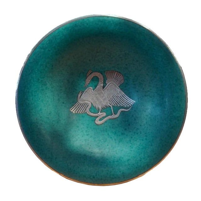 Turquoise Wilhelm Kage Argenta Series Charger for Gustavsberg For Sale - Image 8 of 8