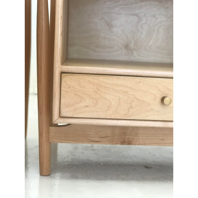 Handmade Sculptural Nighstands in Maple For Sale - Image 9 of 13