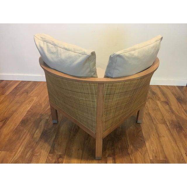 Flexform Flexform Italian Wood & Wicker Rosetta Chair For Sale - Image 4 of 11