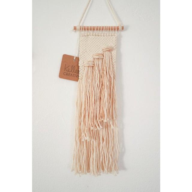 Handwoven Cream & Metallic Wall Hanging - Image 2 of 4
