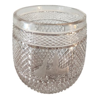 Detailed Swedish Monuments Crystal Vase