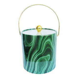 Grace Home Collection Vintage Green Ice Bucket For Sale