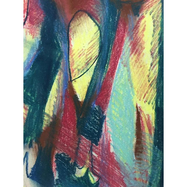 Pastel Abstract Figures in a Line Drawing - Image 3 of 7