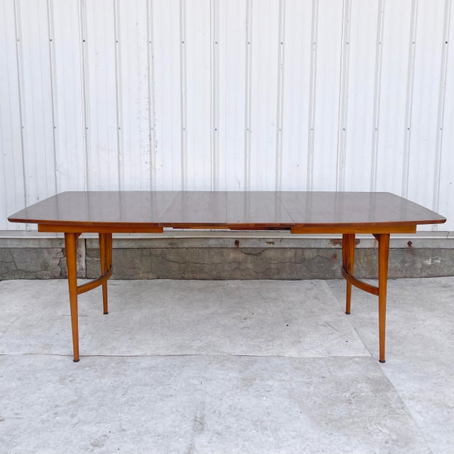 Mid-Century Dining Table With Two Leaves For Sale - Image 13 of 13
