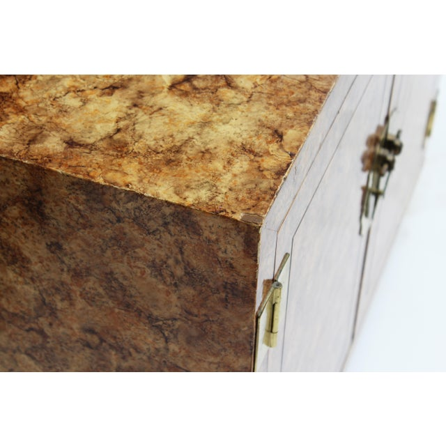 Gold Henredon Faux-Tortoise Cabinet For Sale - Image 8 of 10
