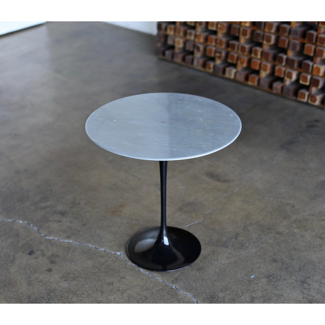 Eero Saarinen Gray Marble Occasional Table for Knoll Circa 1980 For Sale In Los Angeles - Image 6 of 9