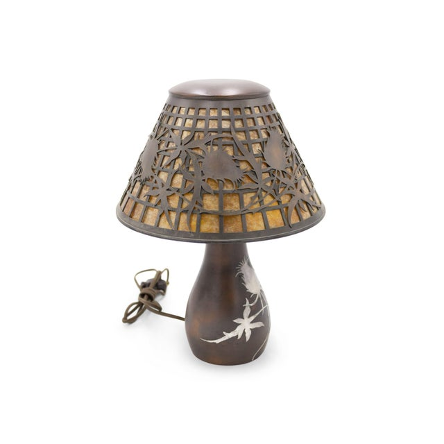 American Mission Heintz Art Metal Table Lamp For Sale - Image 4 of 7