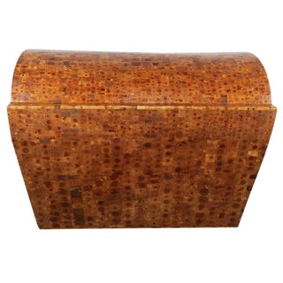 Sculptural Modern Wood Trunk For Sale