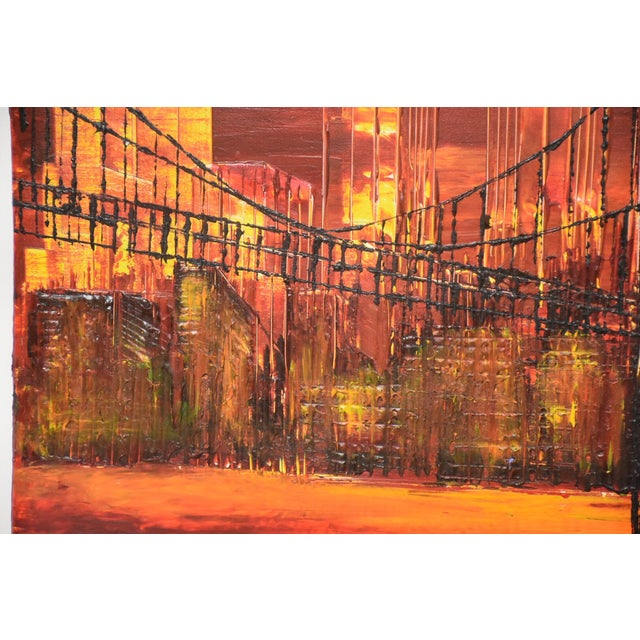 New York City Impressionist Oil Painting For Sale - Image 4 of 7