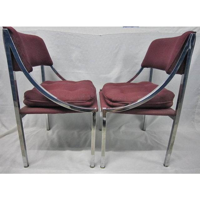 Chrome Milo Baughman Dining Chairs - A Pair For Sale - Image 7 of 7