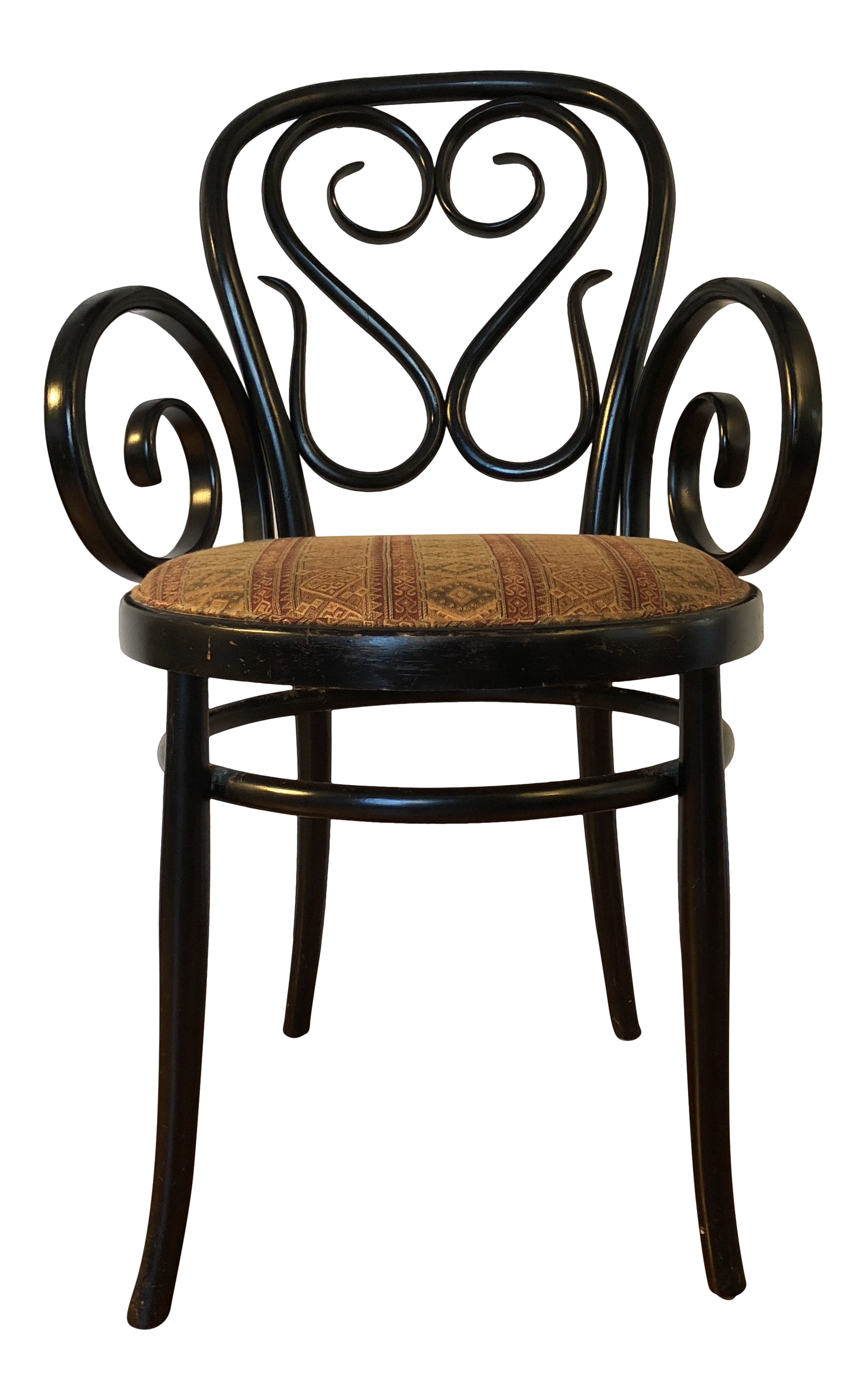 1950u0027s Vintage Thonet Cafe Daum Style Bentwood Armchair