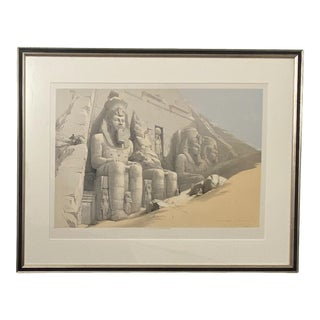 """Circa 1847 """"The Great Temple of Aboo Simble"""" Lithograph by David Roberts, England For Sale"""