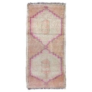 "Vintage Turkish Pink Runner-1'8'x3'6"" For Sale"