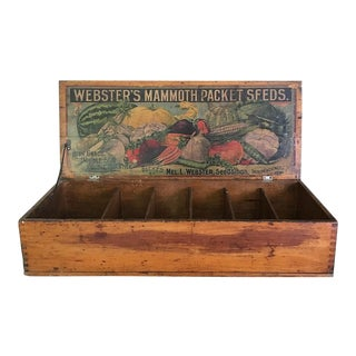 Antique General Store Counter Display Seed Box For Sale
