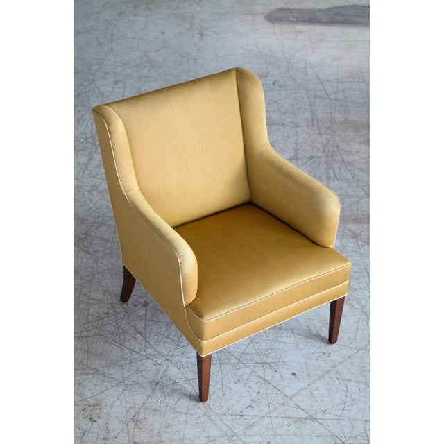 1950s Frits Henningsen Pair of Lounge Chairs Denmark, Circa 1950 For Sale - Image 5 of 13