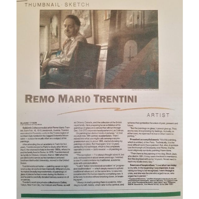 Impressionism Remo Mario Trentini Reverse Oil on Glass For Sale - Image 3 of 13
