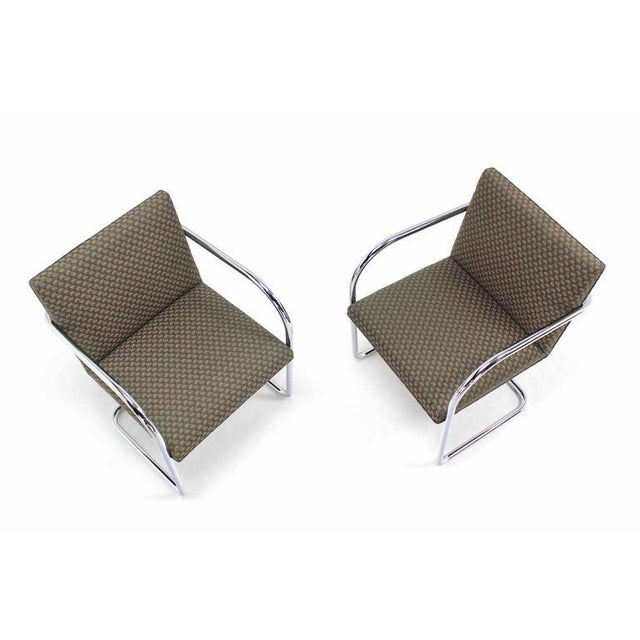 Silver Pair of Mies Brno Side office dining Chairs for Knoll For Sale - Image 8 of 10