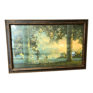 Vintage Framed Art Deco Print by Maxfield Parrish For Sale