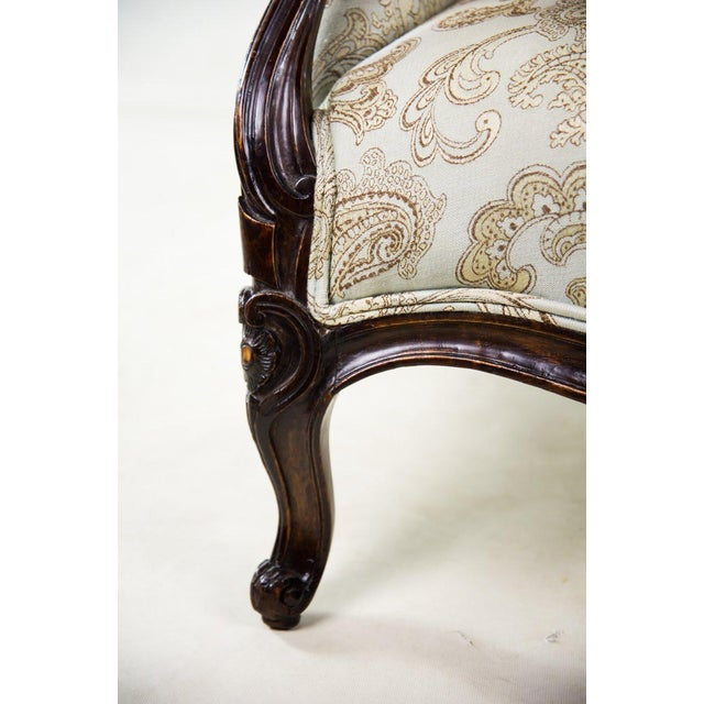 19th C. French Louis XV Style Low Bergere Chair For Sale - Image 9 of 11