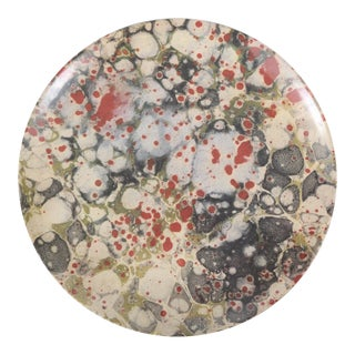 Contemporary Library Marble Melamine Platter by Siren Song For Sale