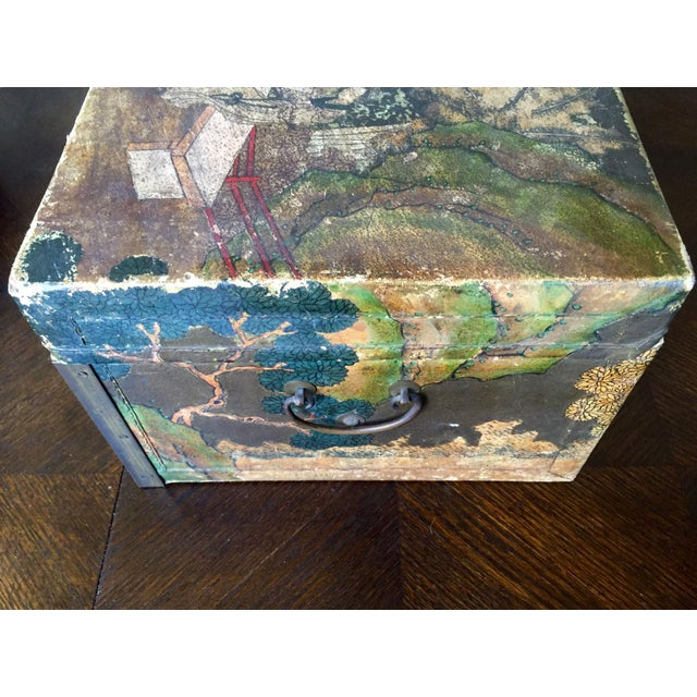 19th-C. Chinese Pigskin Travel Trunk - Image 8 of 11