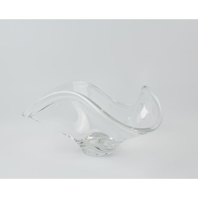 Rosenthal Crystal Rounded Wave Bowl For Sale - Image 12 of 12