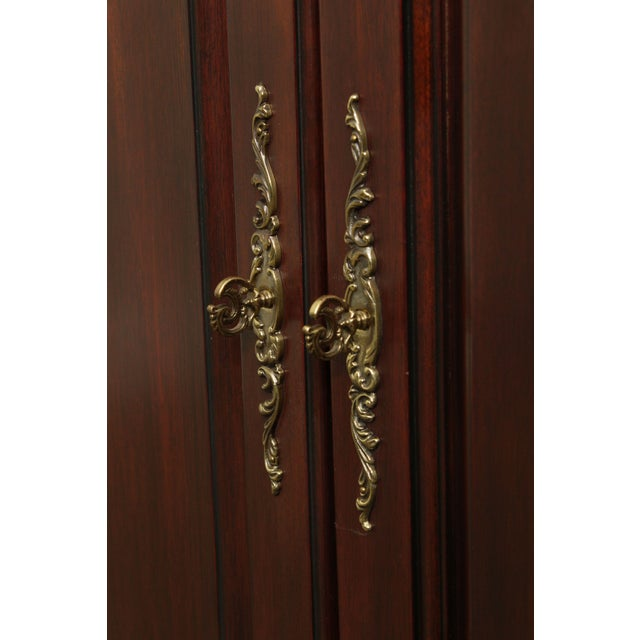 Brown Henkel Harris Large Chippendale Style Mahogany Beveled Glass Breakfront China Cabinet #2382 For Sale - Image 8 of 12
