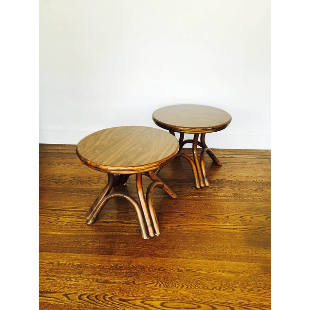 Vintage Bentwood Side Tables - Pair - Image 3 of 6