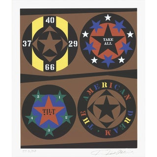 1997 Robert Indiana The American Dream Serigraph For Sale