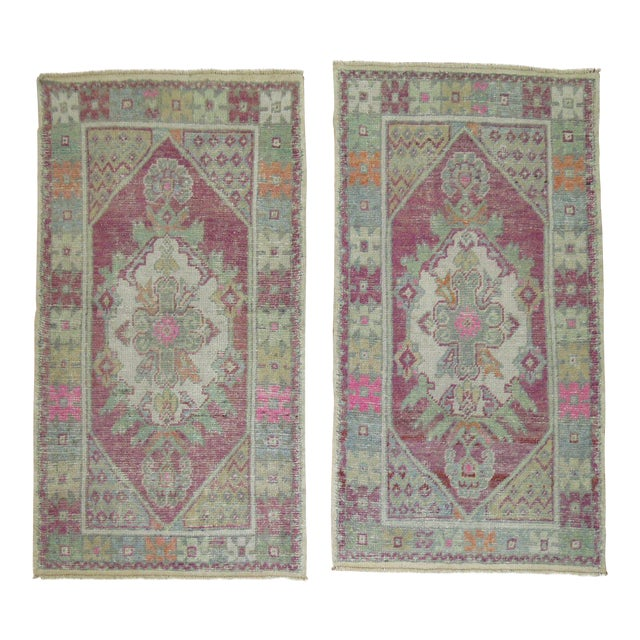 Vintage Turkish Rugs - a Pair - 2'8'' x 4'8'' For Sale