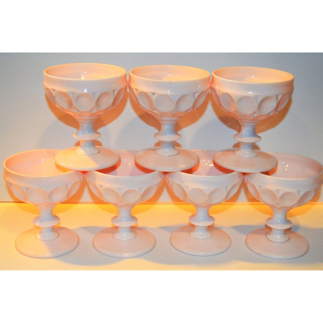 Boho Chic Vintage Champagne Coupe Glasses - Set of 7 For Sale - Image 3 of 8