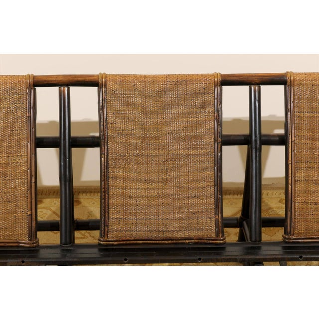 Rare Restored Sofa by John Wisner for Ficks Reed- Four Available For Sale - Image 9 of 11