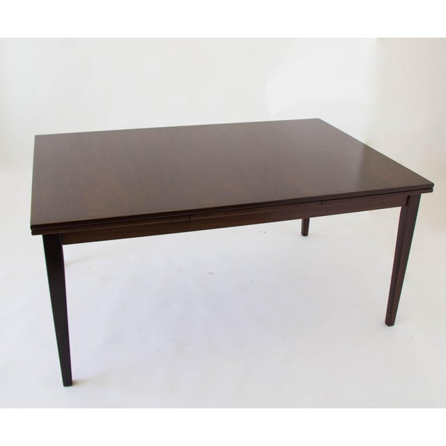 1950s Rosewood Dining Table with Dutch Extension by Gudme For Sale - Image 5 of 9
