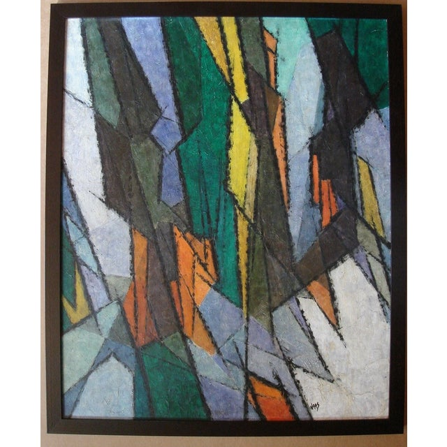 1960s Hildegarde Haas Abstract Painting - Image 2 of 4