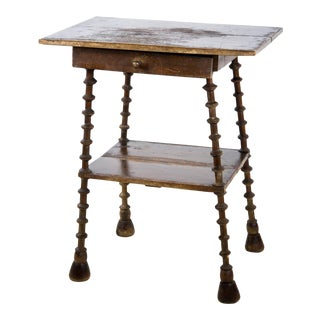 English Walnut Two Tier Side Table