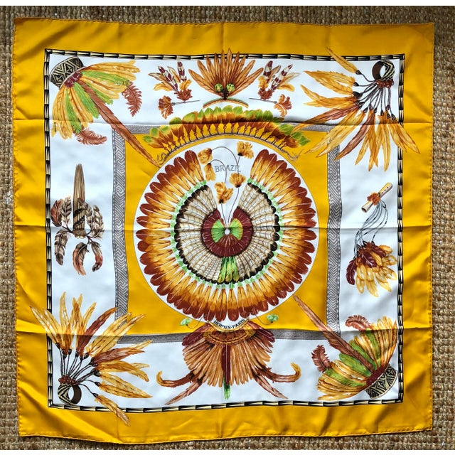 Vintage Hermes Brazil Scarf For Sale - Image 10 of 10