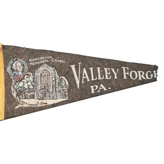 Vintage Valley Forge PA Felt Flag Banner - Image 2 of 2