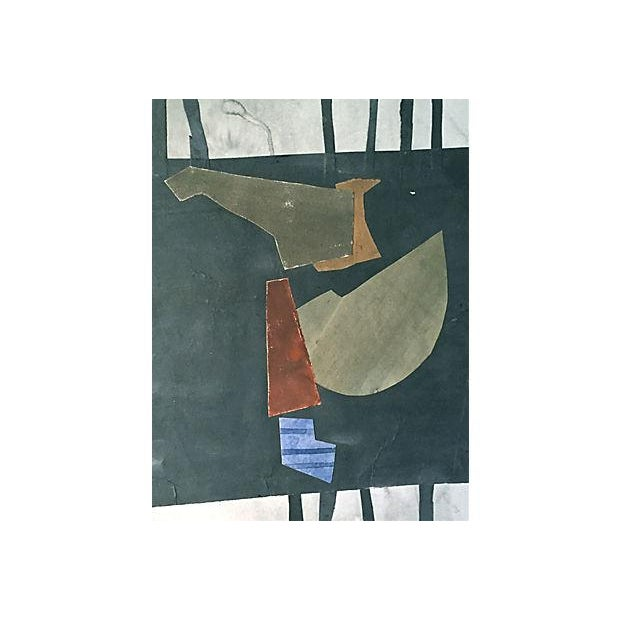 "This is a vintage abstract collage on Arches paper, initialed verso ""RDG"" for Roger D. Stokes and dated 10-1984. Stokes..."