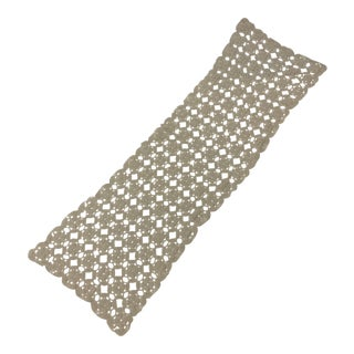 Antique Hand Crocheted Table Runner For Sale