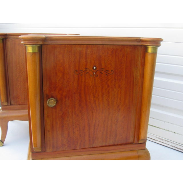 1950s French Maple Nightstands - A Pair - Image 9 of 10