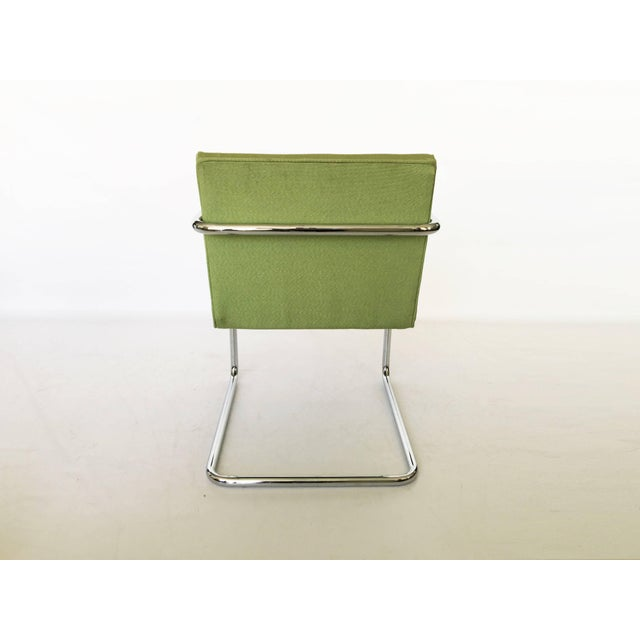 Pair of Brno Chairs in Green For Sale In Dallas - Image 6 of 9