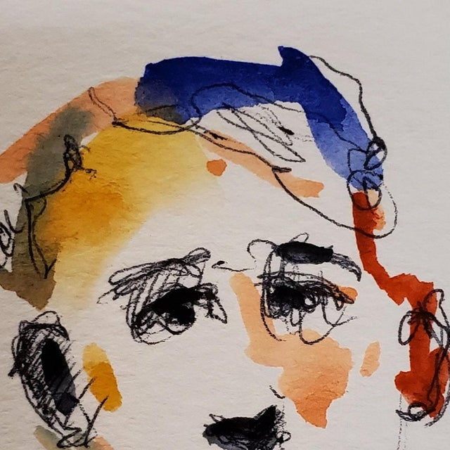 Up For Sale: A One-Of-A-kind Watercolor Painting by Impressionist Artist JOSE TRUJILLO Measurements: 3 x 3 inches Medium:...