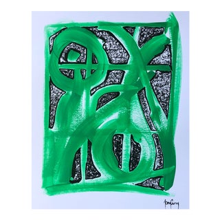 """""""Green Abstract"""" Painting by Tony Curry For Sale"""