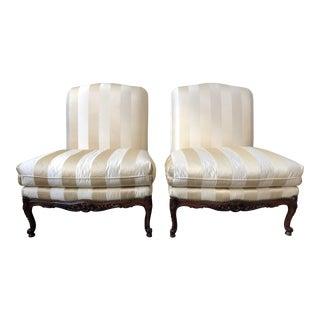 Ralph Lauren Home Duchess Slipper Chairs - a Pair For Sale