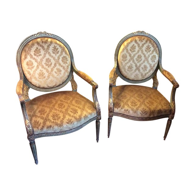 Pair of Louis XVI Fauteuils For Sale